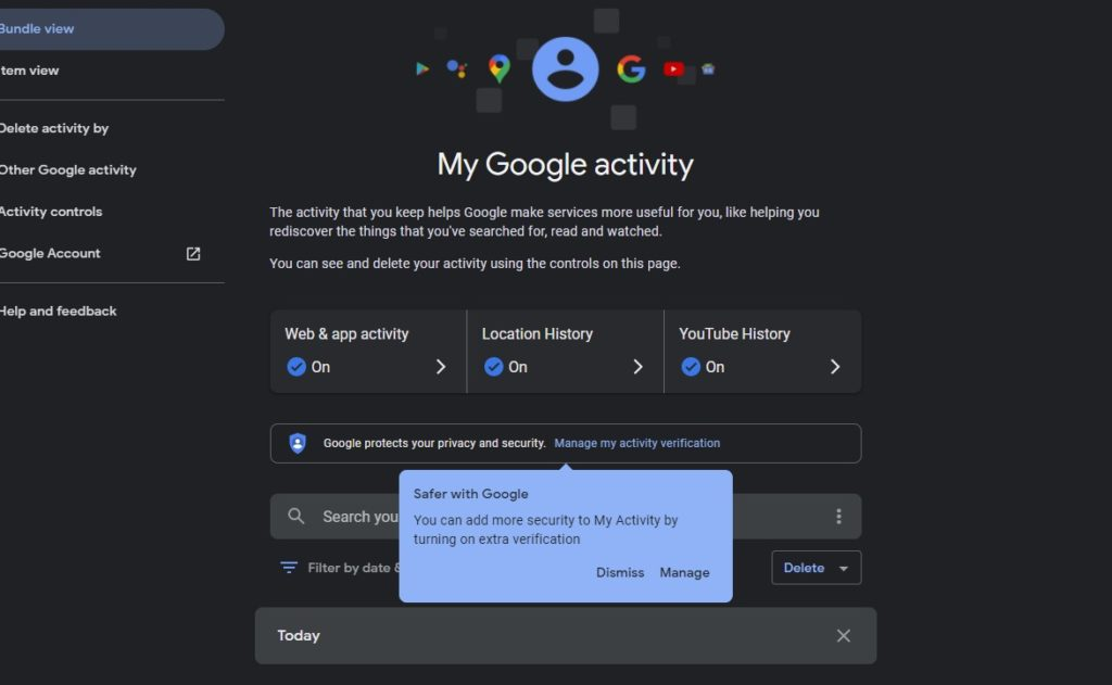 Schützen Sie Ihren Google My Activity-Verlauf mit einem Passwort