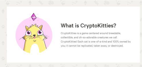 Startseite der Cryptokitties-Plattform.