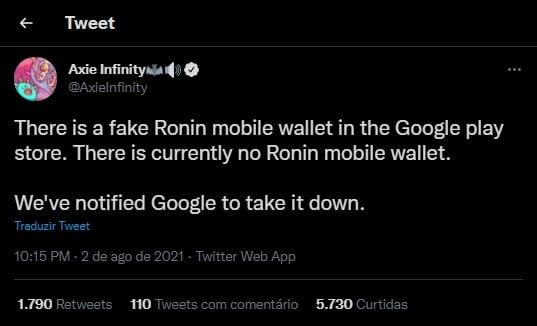 Brasilianischer Youtuber verliert beim Spielen von Axie Infinity fast 1 Ethereum