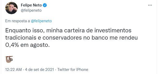 Felipe Neto verdoppelt seine Investitionen in Solana und Ethereum