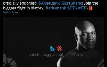 Boxer Evander Holyfield unterstützt die Kryptowährung AriseBank