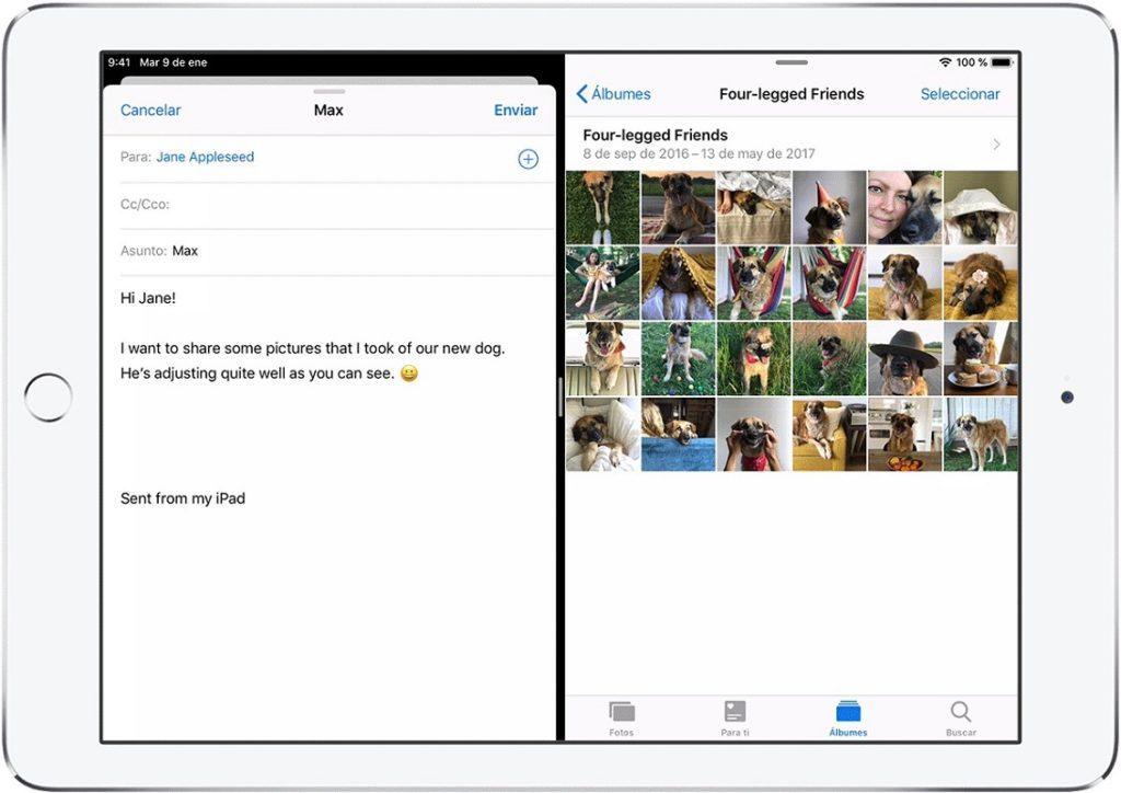 Wie teilt man den Bildschirm auf dem iPad mit Split View?